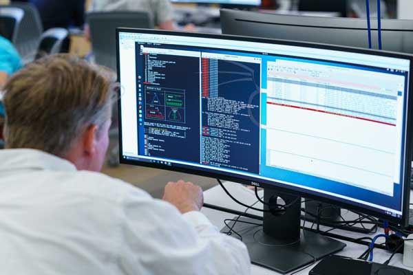 people in cybersecurity lab