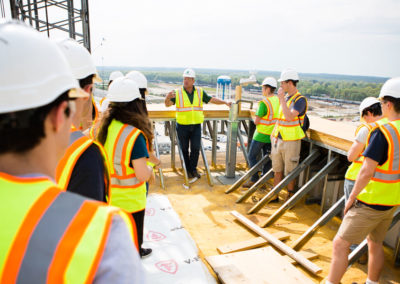 Students take a behind-the-scenes tour of STAR Tower construction