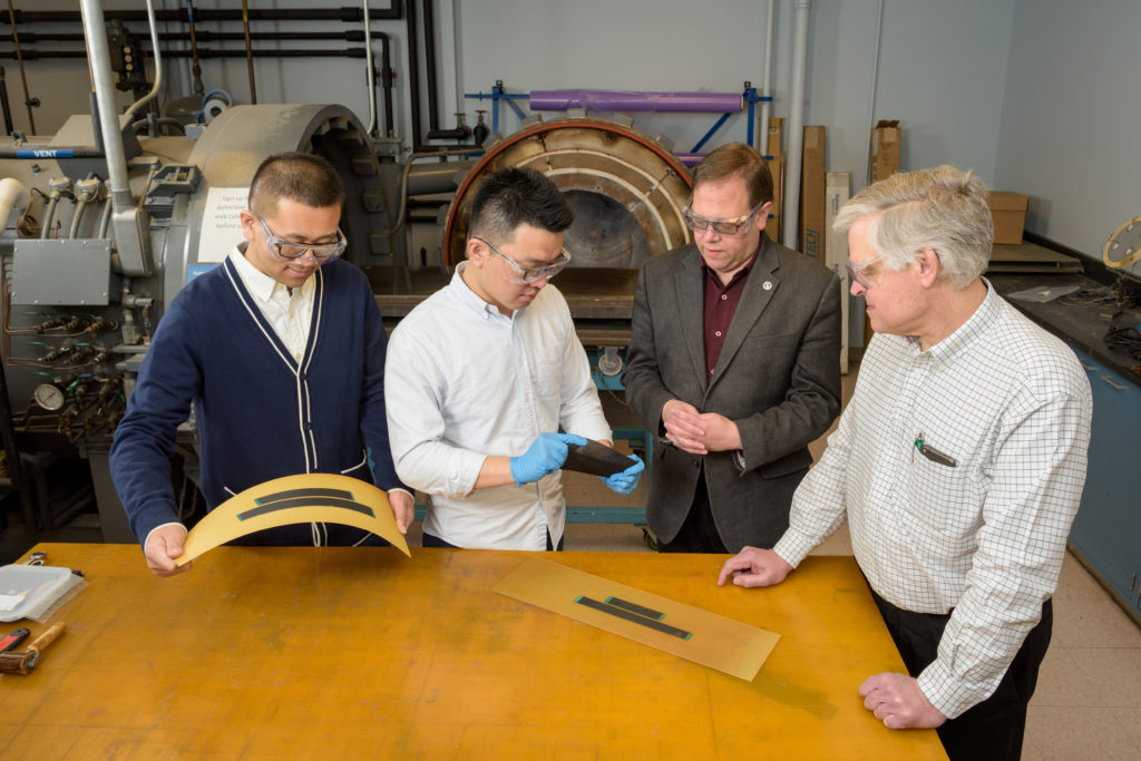 Hongbo Dai, Hao Liu, Erik Thostenson and WIill Johnson are pictured.
