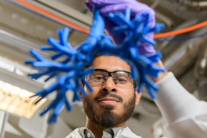Azeem Sharief works on model to track pathways of inhaled medicine