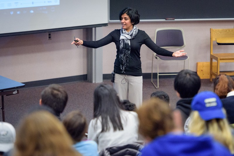 Arthi Jayaraman leads a research team that designs polymers to advance or discover various materials.