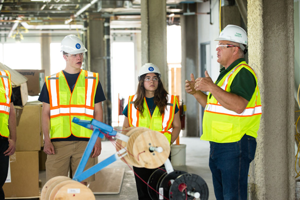 Students take hard hat tour of STAR tower