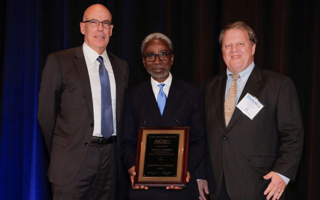 Ogunnaike Recognized for Chemical Engineering Education