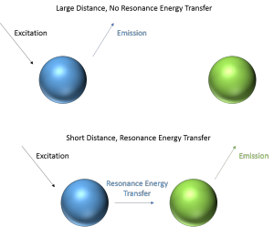 Schematic of resonance energy transfer