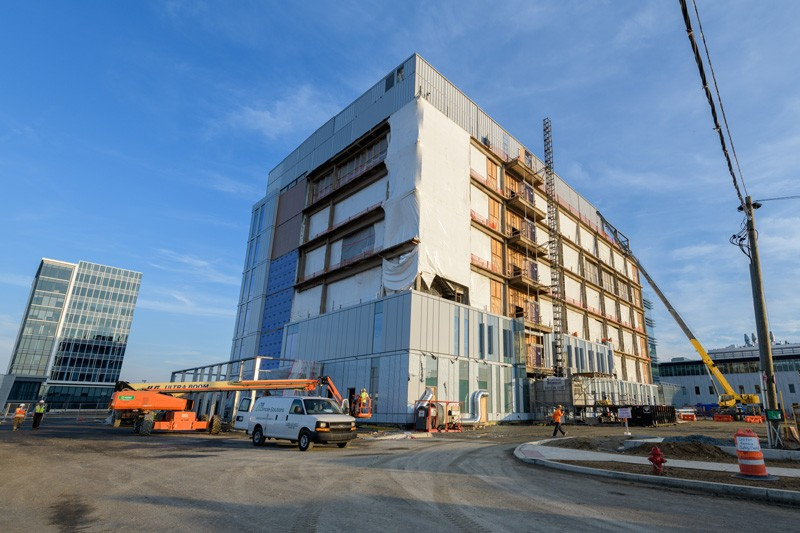 Construction began in October 2017 on the Carol Ammon and Marie Pinizzotto M.D. Biopharmaceutical Innovation Center on UD's STAR Campus.