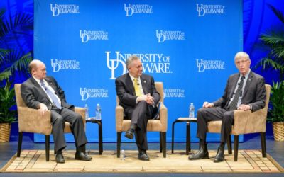 NIH Director Collins Visits UD's 'Vibrant Research Community'