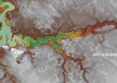 Digital Elevation Model of Cow Marsh