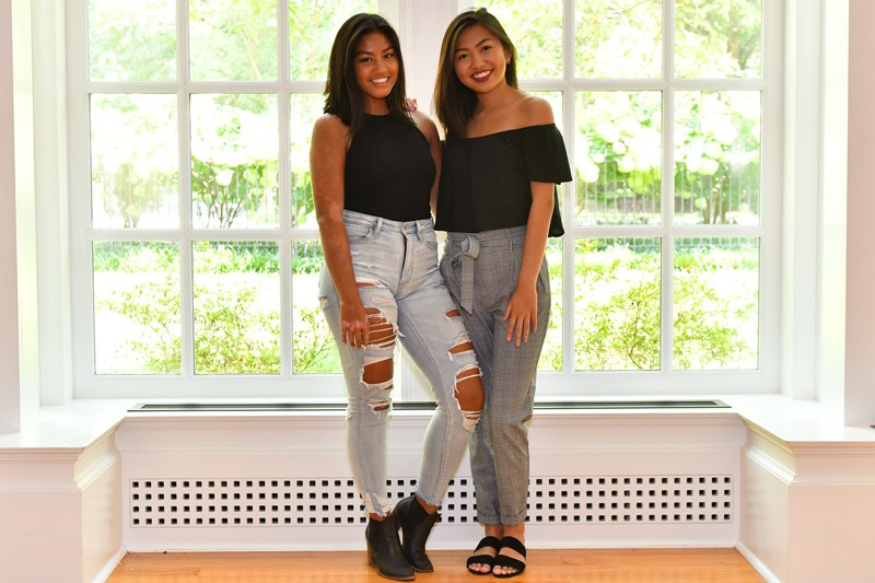 Filipino Student Association President Lauren Icarangal (right) and club treasurer Amelia Abobo (left).