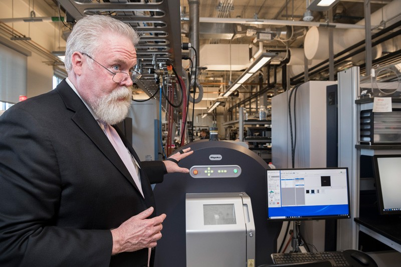 Thomas McNulty, senior vice president and general manager at Rigaku Americas Corporation, discusses the capabilities of UD's new 3D X-ray imaging system.