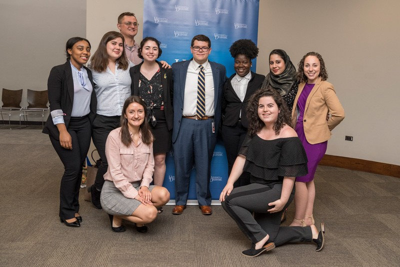 "Among those in the mix at ""UD Day in DC"" were 10 students who have been interns in the University of Delaware's Spring Semester in Washington D.C. Program, founded by Prof. Ed Freel, senior fellow in UD's Institute for public Administration."