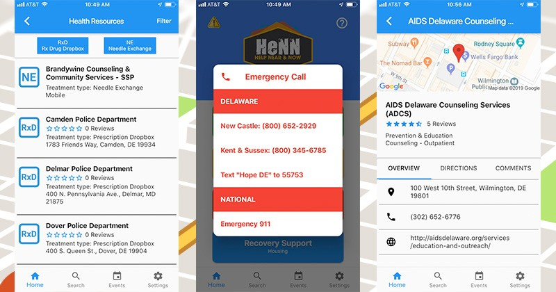 The app, Help Near and Now (or HeNN), was developed by a multidisciplinary team at the University of Delaware, along with industry partners Greenline Business Group and CompassRed.