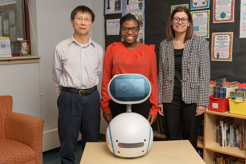 Chrystalla Mouza, Distinguished Professor in Teacher Education, and Tia Barnes, assistant professor of human development, in UD's College of Education and Human Development; and Chien-Chung Shen, professor of computer and information sciences in the College of Engineering.
