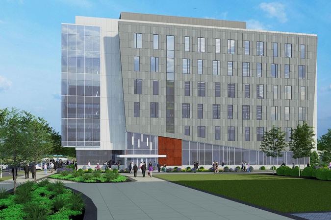 Artist rendering of future FinTech building