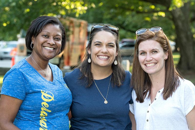 Three female UD employees