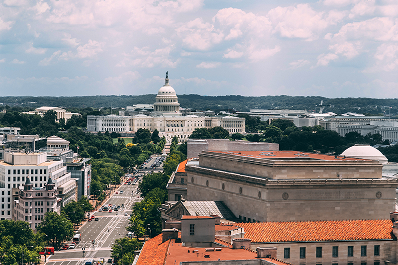 View of the US Capitol Building from the Old Post Office