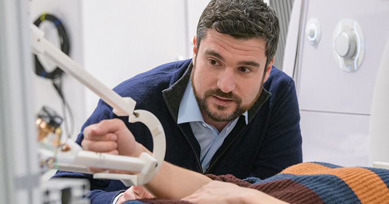 Center member Fabrizio Sergi, an assistant professor of biomedical engineering, develops new robots and tools to elucidate the physiology of human motor control.