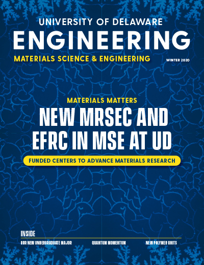 cover of the magazine for the BioMechanical Engineering department