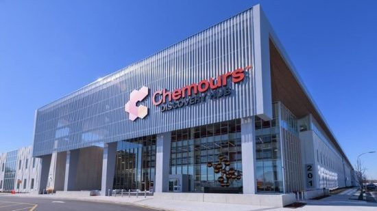Exterior of the Chemours Discovery Hub Building