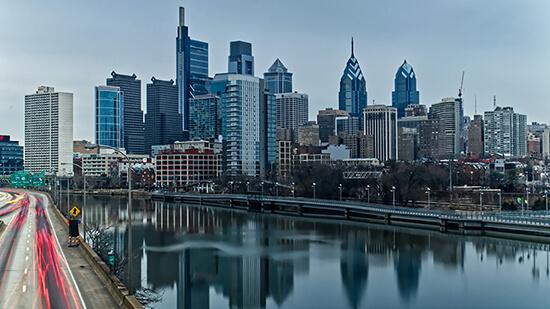 Skyline of Philadelphia, PA
