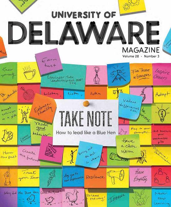 Cover of the University of Delaware Magazine