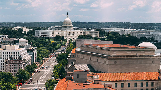 View of the US Capitol in Washington, DC