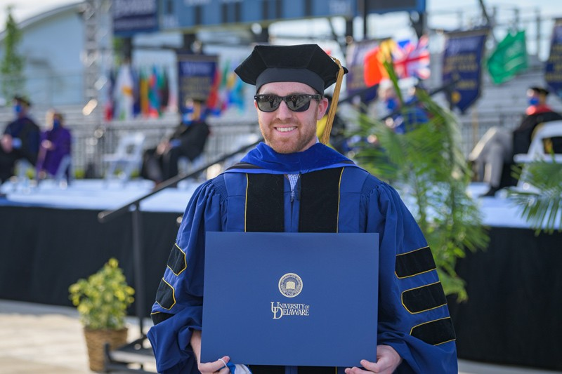 Ryan McDonough won the 2021 Allan P. Colburn Prize in Engineering and Mathematical Sciences for his research investigating novel synthetic control strategies to understand how calcium signaling regulates musculoskeletal cell function.